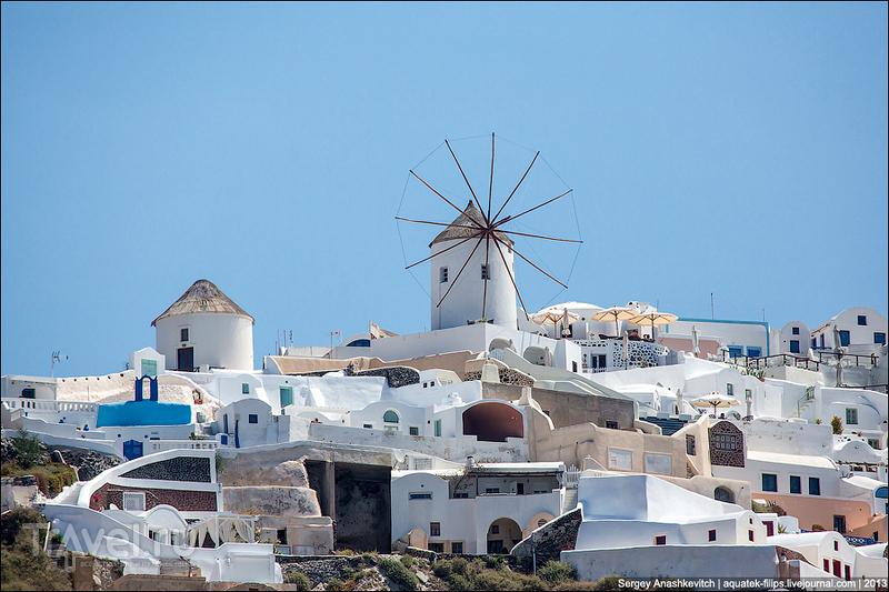Мельница на Кикладских островах, Греция / Фото из Греции