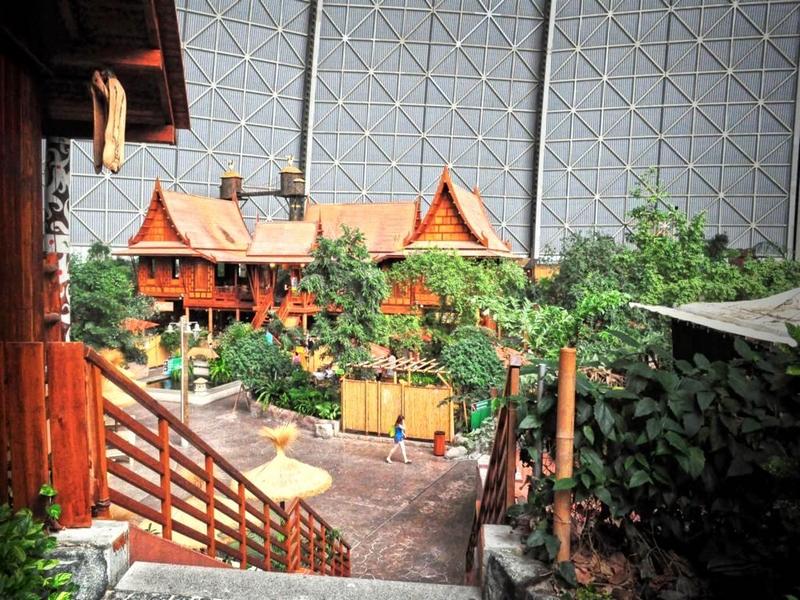 Тропический курорт с пальмами, лианами, бассейнами и соломенными хижинами в Германии / Германия