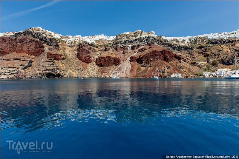 Залив Армени на острове Санторини, Греция / Фото из Греции