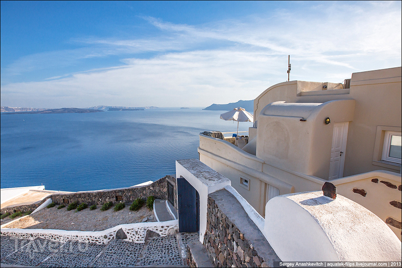 Бело-голубая магия Санторини / Фото из Греции