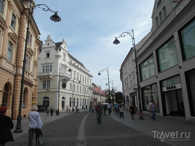Strada Nicolae Balcescu в Сибиу, Румыния / Фото из Румынии