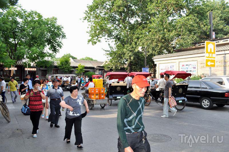 На улице района Шишахай  в Пекине, Китай / Фото из Китая
