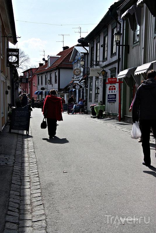 Улица Stora gatan в Сигтуне, Швеция / Фото из Швеции