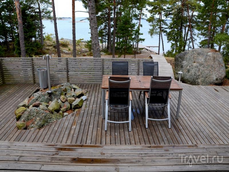 Терраса одного из коттеджей на острове Океттума, Финляндия / Фото из Финляндии