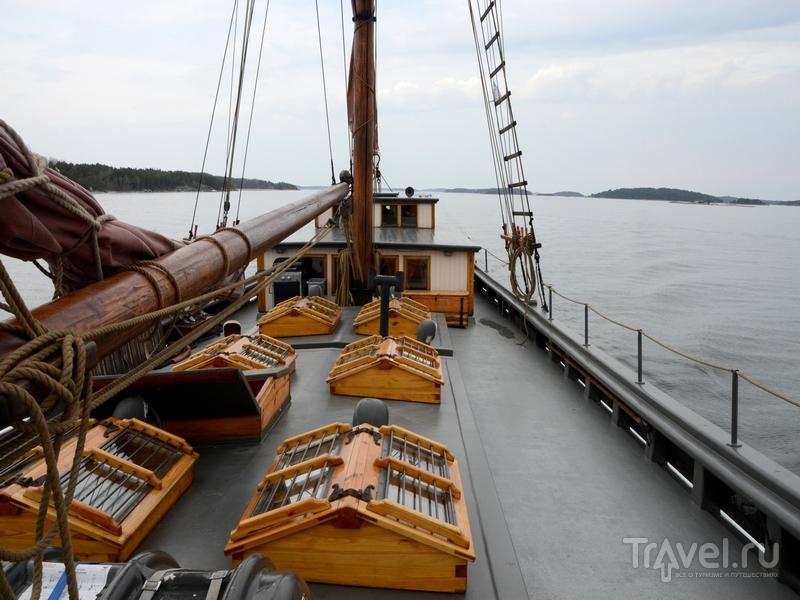 Шхуна Olga в плавании по архипелагу Турку, Финляндия / Фото из Финляндии