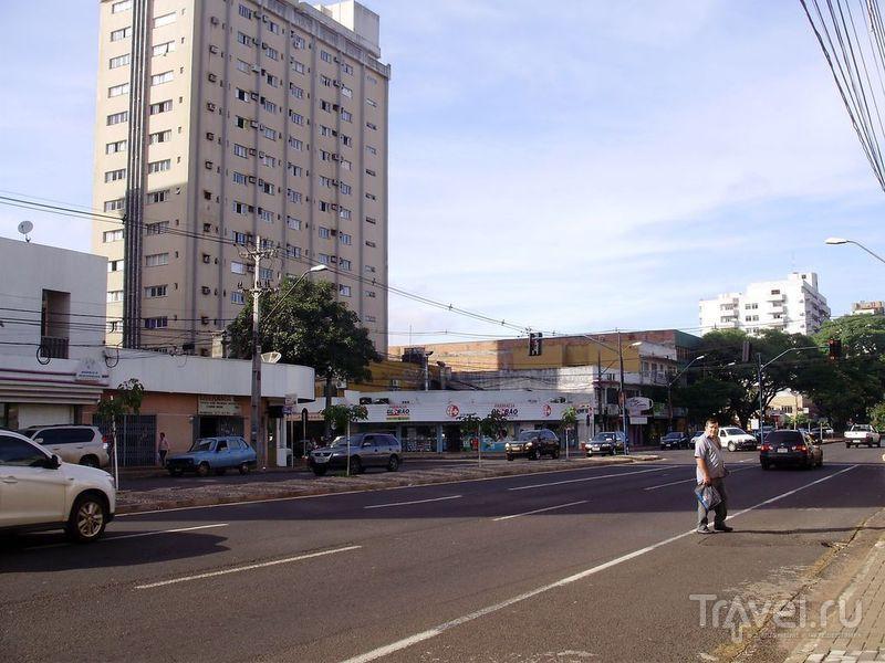В городе Фоз-де-Игуасу, Бразилия / Фото из Аргентины