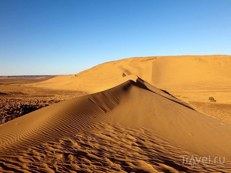 Песчаные дюны на территории структуры Ришат в Мавритании / Мавритания