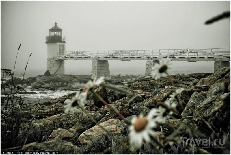Маяк Маршал Пойнт в Порт Клайде, США / Фото из США