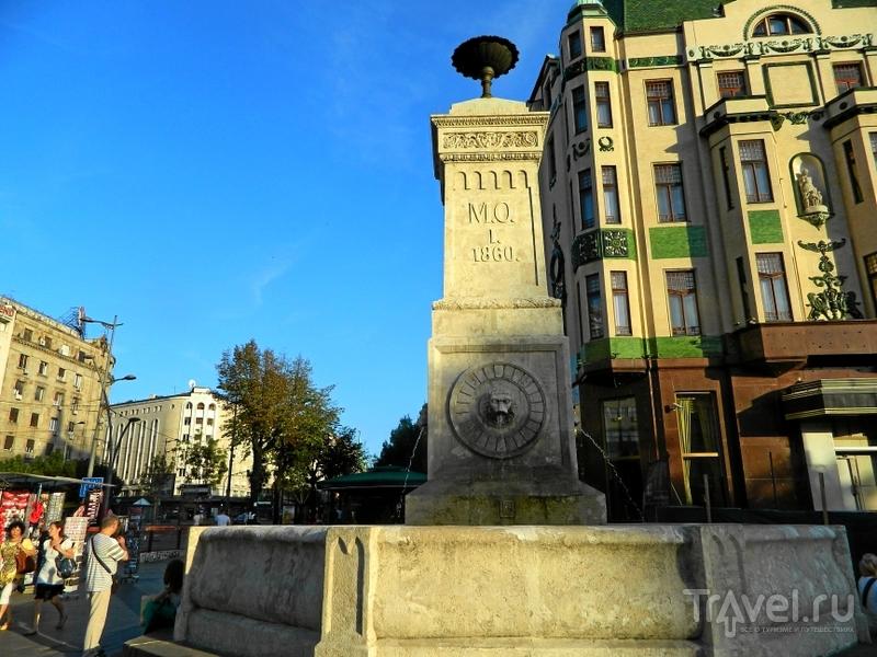 """Теразийский фонтан (или фонтан """"Четыре льва"""") в Белграде, Сербия / Фото из Сербии"""