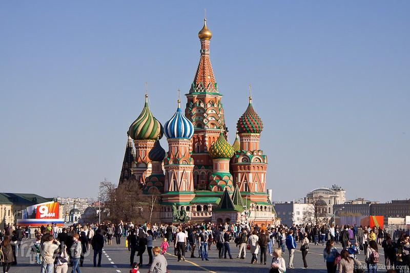 Собор Василия Блаженного и Красная площадь в Москве, Россия / Фото из России