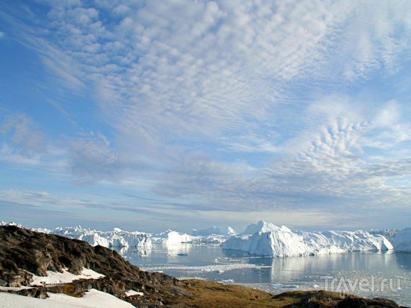 Длина фьорда Илулиссат составляет более сорока километров, Гренландия / Гренландия