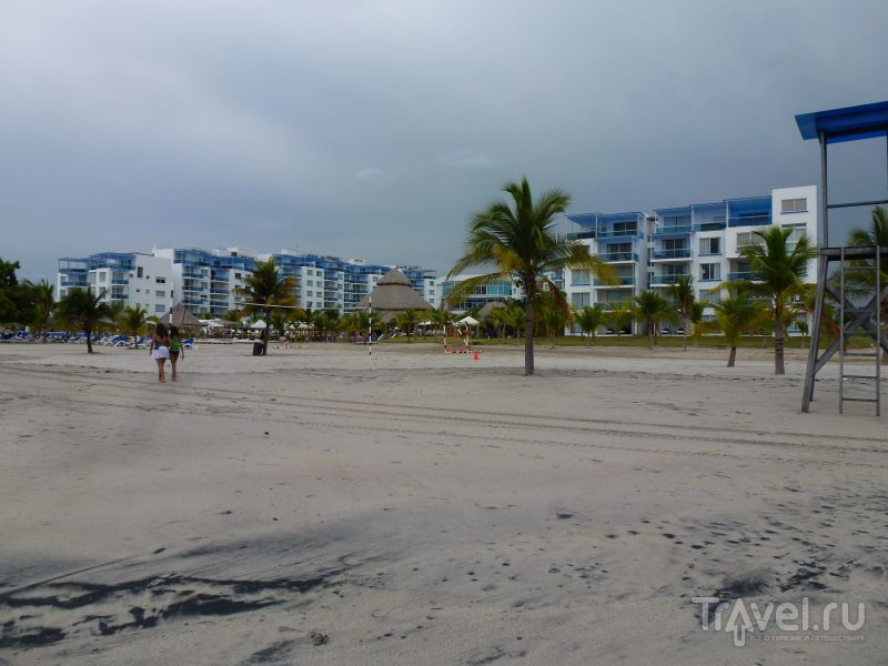 Черный пески белого пляжа / Панама