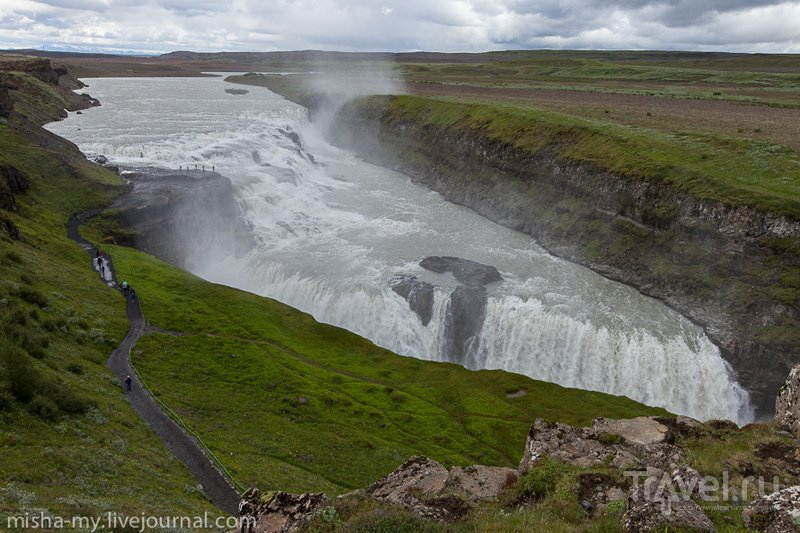 Водопад Гюдльфосс (Gullfoss), Исландия / Фото из Исландии