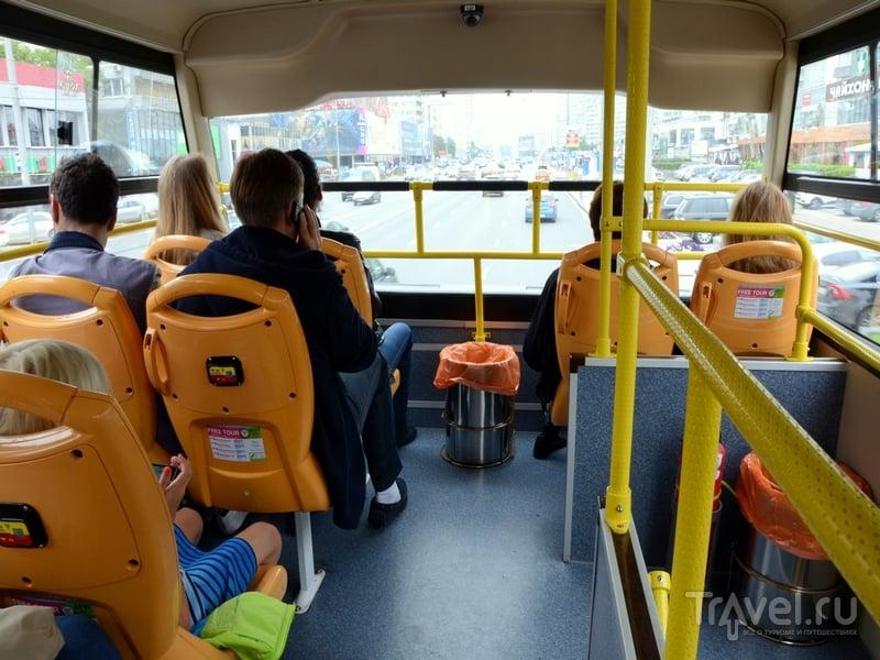 На втором этаже автобуса City Sightseeing