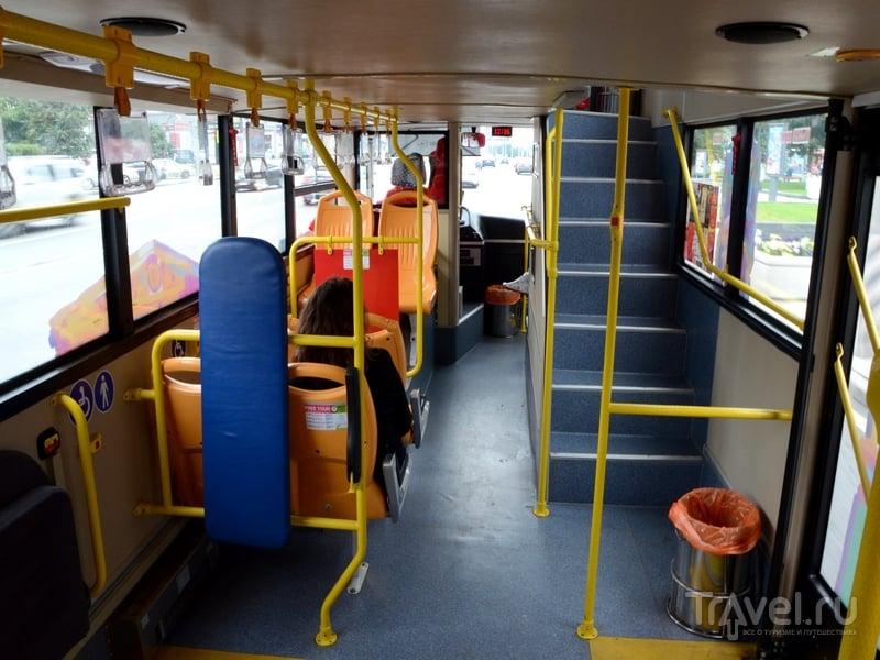 Первый этаж автобуса City Sightseeing, курсирующего по Москве