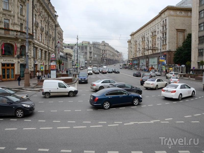 Вид на Тверскую улицу со второго этажа автобуса City Sightseeing