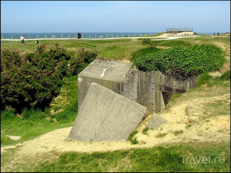 Pointe Du Hoc - место высадки союзных войск в Нормандии / Франция