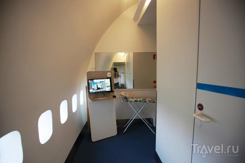 Хостел Jumbo в самолете Боинга 747-200 в Стокгольме