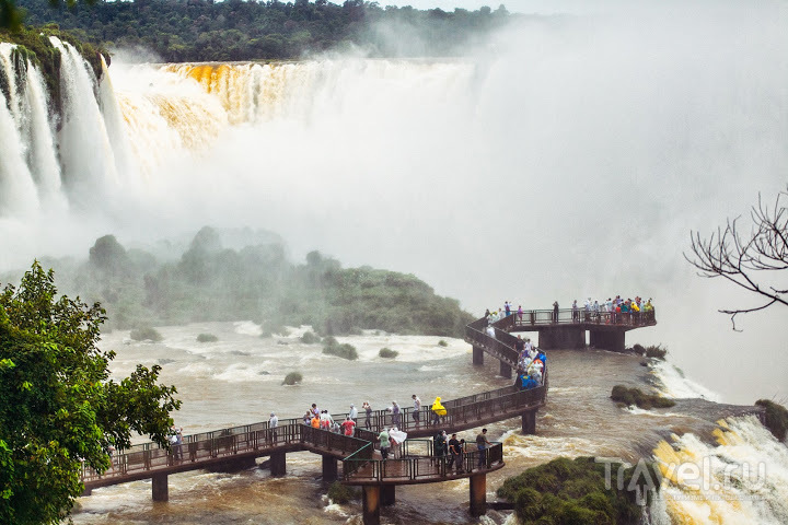 Глотка Дъявола (водопады Игуасу) / Фото из Аргентины
