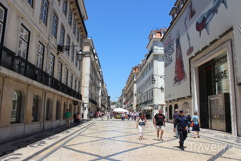 Улица Аугуста (Rua Augusta) в Лиссабоне, Португалия / Фото из Португалии
