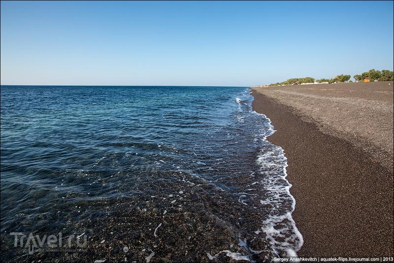 Вулканические пляжи острова Санторини