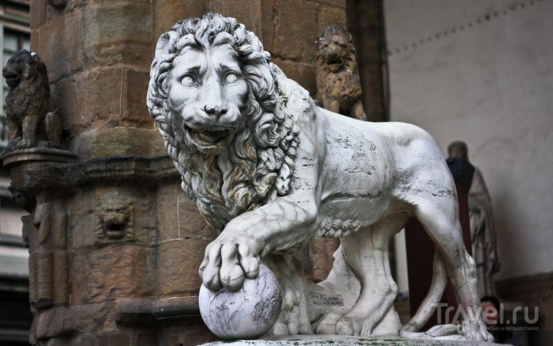 На площади Синьории у Палаццо-Веккьо во Флоренции, Италия / Фото из Италии