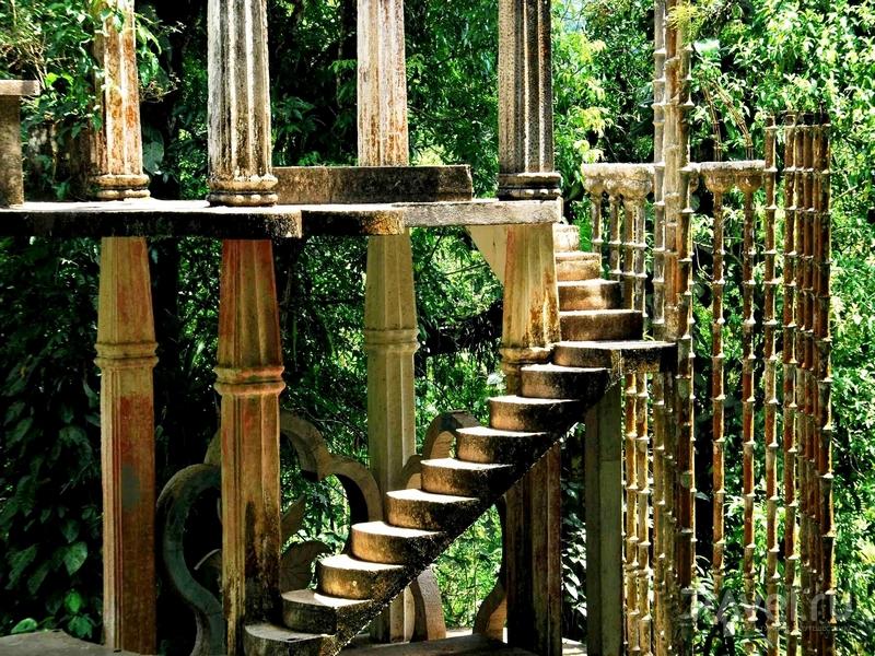 Парк Las Pozas - попытка создать райские сады в тропических джунглях Мексики / Мексика