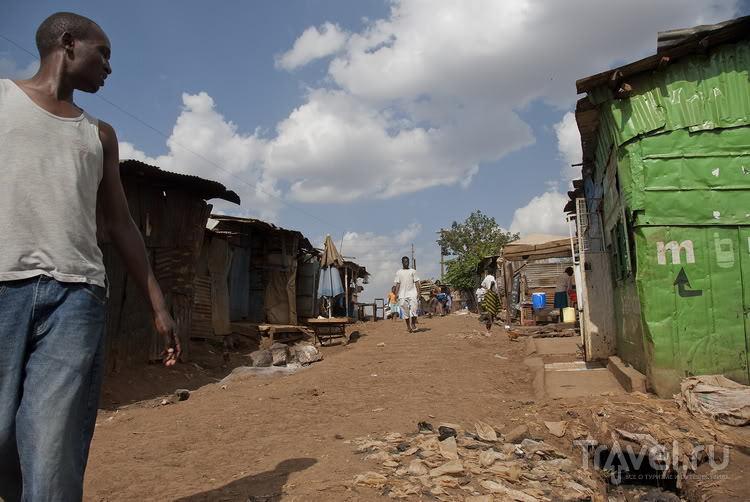 В трущобах на окраине Найроби, Кения / Фото из Кении