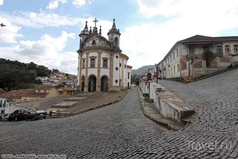 Церковь святой Марии Розарио в Ору-Прету, Бразилия / Фото из Бразилии