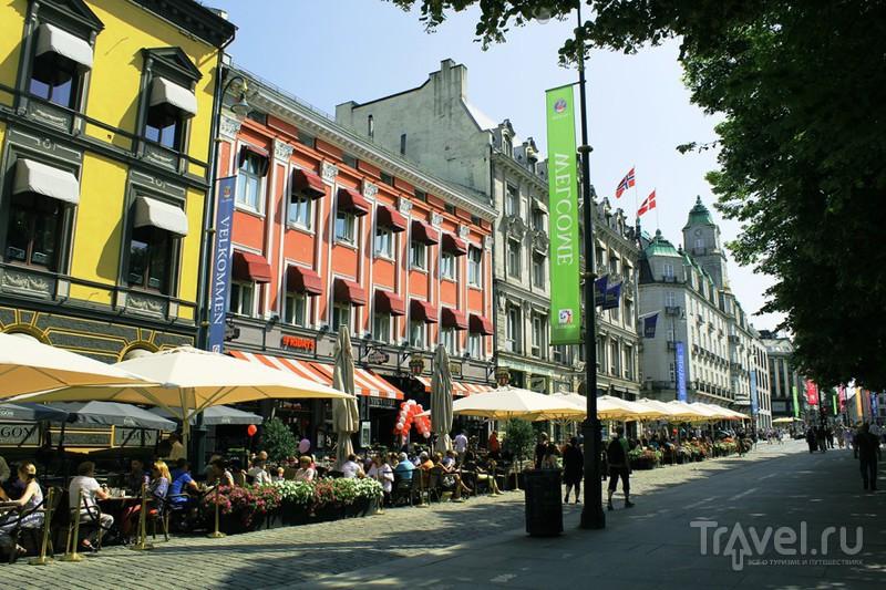 Улица Карла Юхана в Осло, Норвегия / Фото из Норвегии