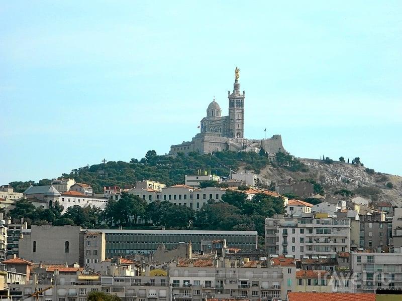 Базилика Нотр-Дам-де-ла-Гард в Марселе, Франция / Фото из Франции