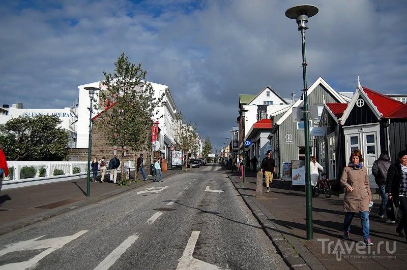 Торговая улица Лаугавегур в Рейкьявике, Исландия / Фото из Исландии