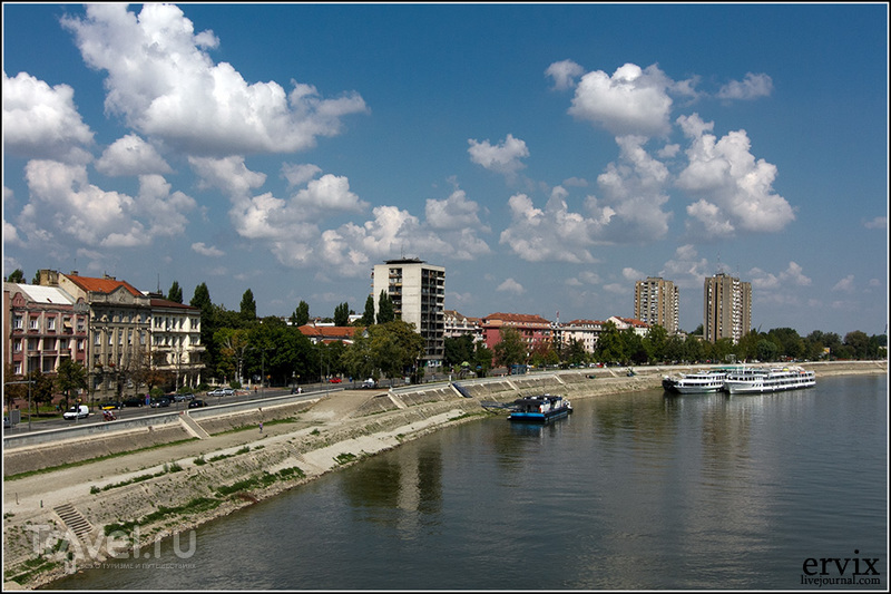 Набережная Дуная в городе Нови-Сад, Сербия / Фото из Сербии