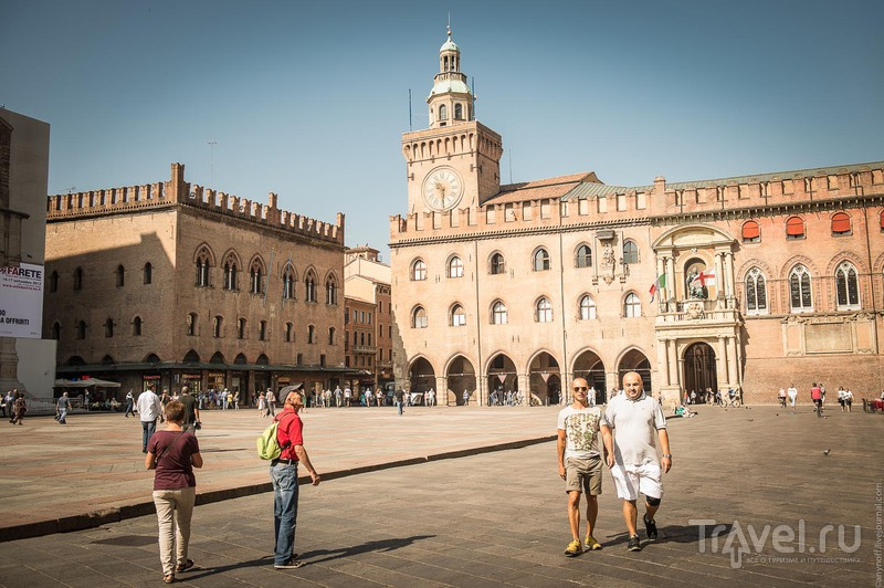 Пьяцца-Маджоре в Болонье, Италия / Фото из Италии