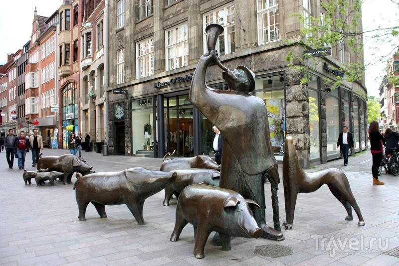 Скульптура Свинопаса в Бремене, Германия / Фото из Германии