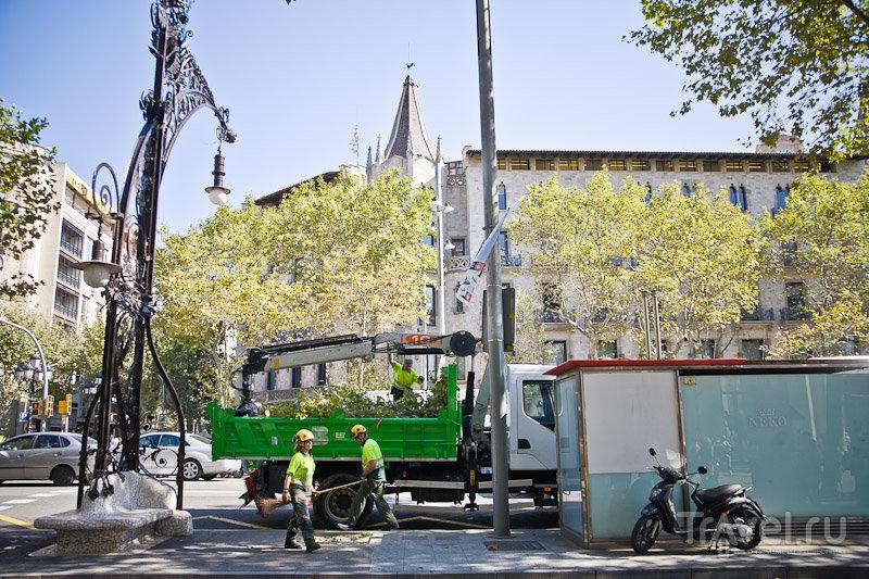 У площади Каталонии в Барселоне, Испания / Фото из Испании
