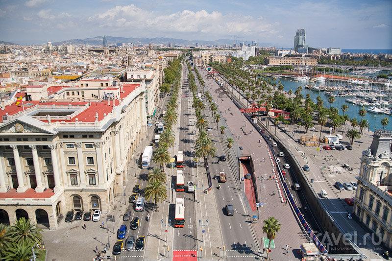 Набережная Passeij de Colom в Барселоне, Испания / Фото из Испании