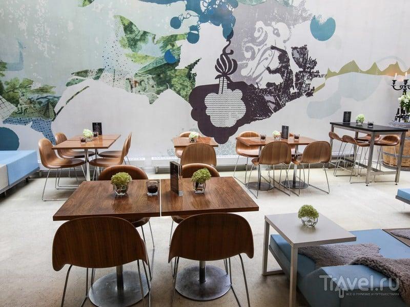 Масштабные рисунки на стенах в ресторане при отеле Fox, Копенгаген / Дания