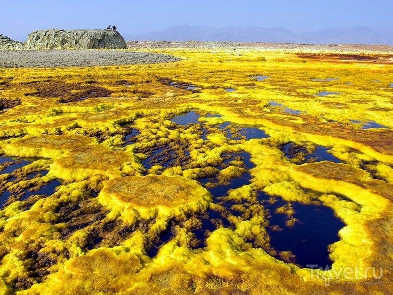 Солевой вулкан Даллол в Эфиопии — одно из самых красивых мест на Земле