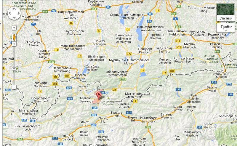 Небольшой альпийский городок - Лермос / Австрия