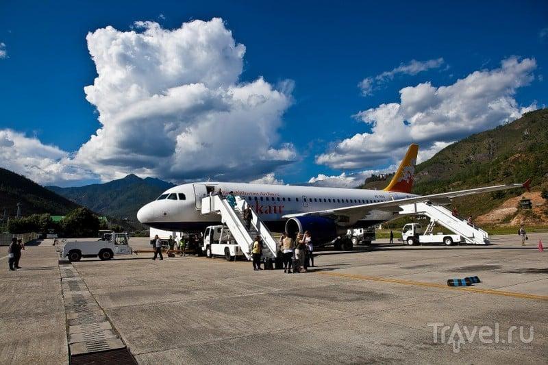 Аэропорт в городе Паро, Бутан / Фото из Бутана