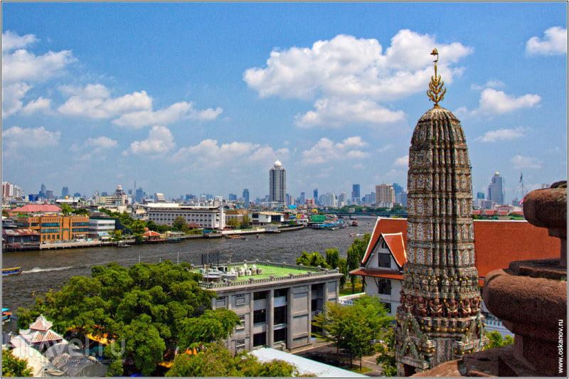 Вид с высоты на Бангкок / Таиланд