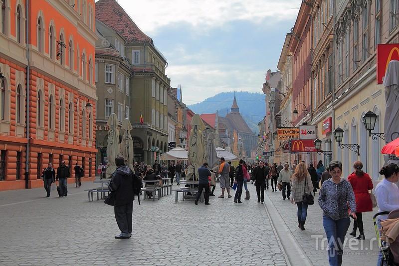 Улица Republicii в Брашове, Румыния / Фото из Румынии