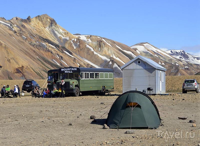 В кемпинге Ландманналёгар, Исландия / Фото из Исландии