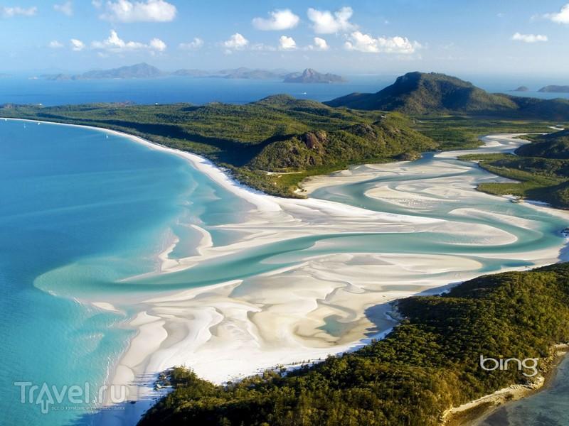 Расположенный в австралийском штате Квинсленд пляж Уайтсанди / Австралия