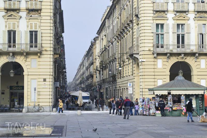 Виа Гарибальди в Турине, Италия / Фото из Италии