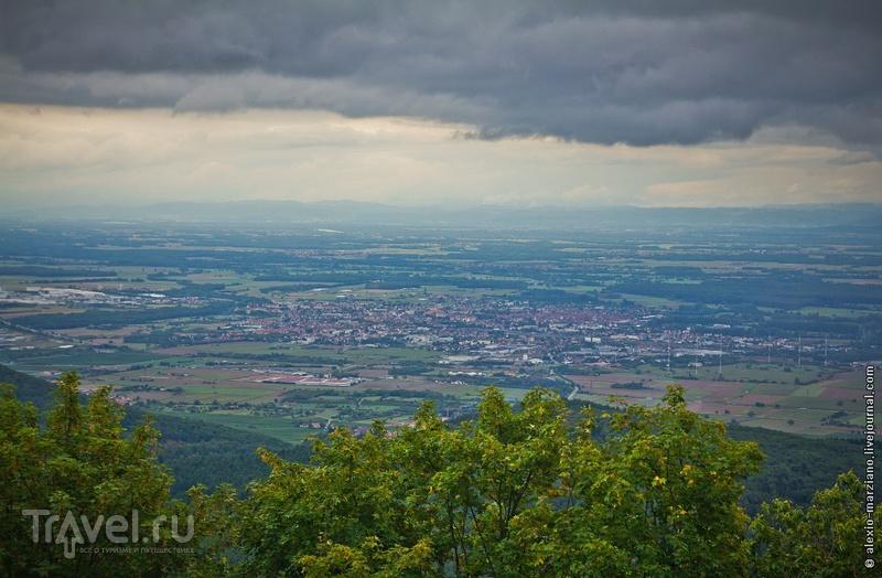 Кёнигсбург и Эльзас с высоты птичьего полёта / Франция