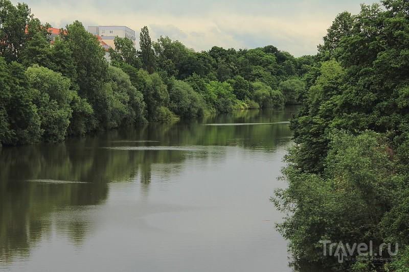 Река Регниц в Бамберге, Германия / Фото из Германии