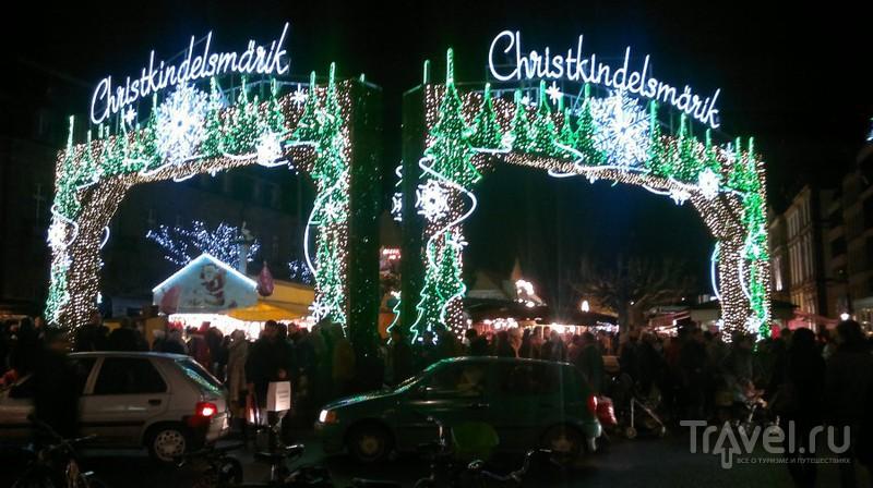 Рождественская ярмарка в Страсбурге, Франция / Фото из Франции
