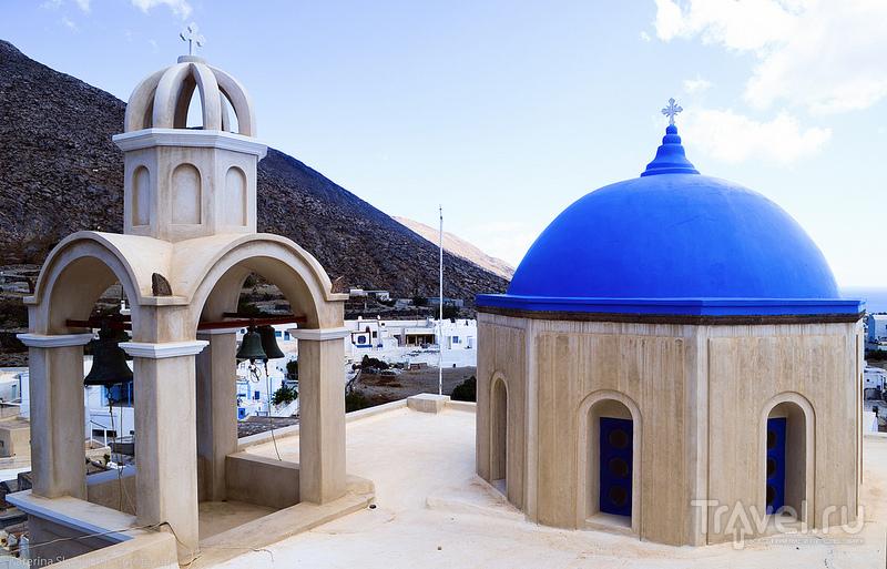 В городе Эмпорио на острове Санторин, Греция / Фото из Греции